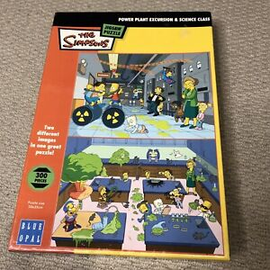 The Simpsons 300 Piece Jigsaw Power Plant & Science Class 2 in 1