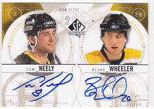 2009 09-10 SP Authentic Sign of the Times Duals #ST2NW Cam Neely/Blake Wheeler