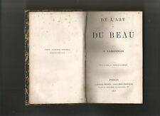 De l'art et du beau lamennais 1865