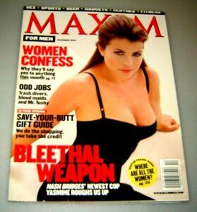 MAXIM Magazine #14 December 1998 Women Confess Yasmine Bleeth