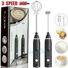 Milk Frother Electric Egg Beater USB Charging Mixer for Coffee Drink Portable