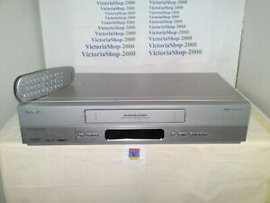 PHILIPS VR750 VHS VCR Video Recorder -TurboDrive-Smart Picture-HiFi-Front A/V in