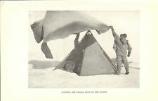scotts last expedition 1913 plate - pitching the double tent on the summit
