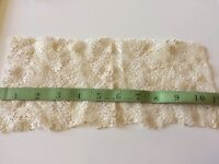Vintage Chemical Lace Trim Edging Sewing Doll Clothes Teddy Bears Primitive