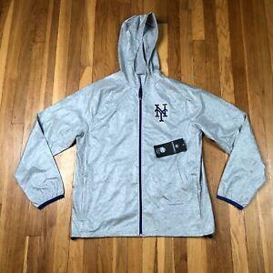New York Mets 47 Brand Men's Medium Jacket. New NWT Gray Active Sport Waterproof