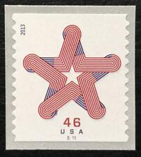 2013 Scott #4749 - 46¢ - PATRIOTIC STAR - Coil Single Mint NH