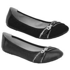 Ladies Ballerina Shoes Womens Flat Pumps Slip On Ballet Diamante Bridal Fashion