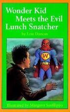 Kids vintage hardcover:Wonder Kid Meets the Evil Lunch Snatcher-bully stealing?