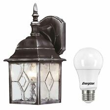 Outside Traditional Wall Lantern Light Fitting or LED Energy Saving Light Bulb