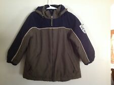 Boys Play Coat SZ 4 Olive Green and Navy w Detachable Hood by Children's Place
