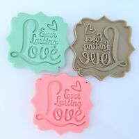 "Valentine Embosser Fondant Cutter ""Ever Lasting Love"" Cookie Cutter Large 7.5 Cm"