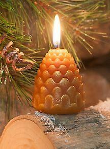 Orange Pine Cone Candle