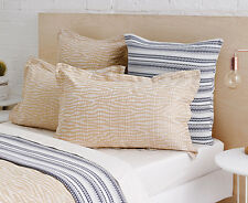 Pair of Sheridan Hamersley European Pillow Cases in Wheat RRP $119.90