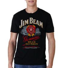 Jim Beam Bourbon Whisky Bottle Label Men T-shirt