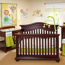 Congo Bongo 4 Piece  Crib Bedding Set by Nojo No Bumper Jungle lion Monkey