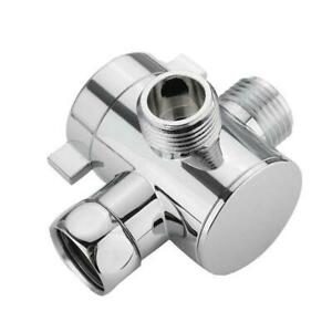 3 Way Shower Splitter Head Diverter Faucet Valve Bathroom Universal Replacement