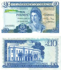 Gibraltar- 1986 £10 Banknote (UNC)