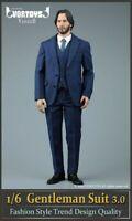 """1//18 SINCERE Cloth Suit Jacket Pants Fit 3.75/"""" Action Figure Body"""