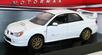 MotorMax 1/24 Scale Metal Model Car 73330 - Subaru Impreza WRX STi - White