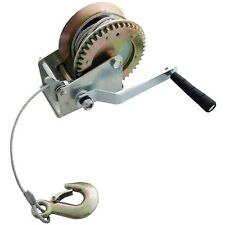1200 LBS 550kg Manual Hand Boat Winch Trailer Mechanical Ratchet Strap Marine
