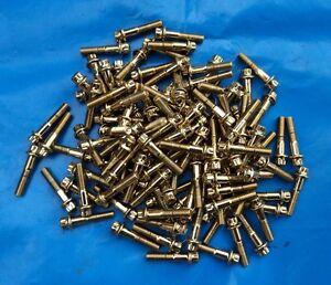 BBS OZ Schrauben M7x32 Gold Felgenschrauben vergoldet  RS Goldschrauben 144 Stk
