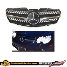 R230 SL black grille chrome star 07-08 luxury AMG look custom emblem badge parts