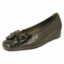 Animal Print Leather Slip On Heels for Women