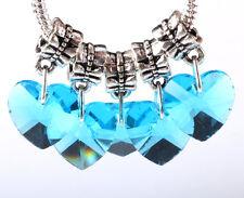 Exquisite 5pcs Silver big hole Beads Fit European Charm Pendant Bracelet B#243