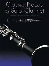 Classic Pieces For Solo Clarinet Intermediate Sheet Music Book Mozart Spohr S20