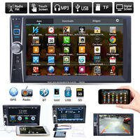 "6.6"" Double 2 DIN Bluetooth Car Stereo MP5 MP3 Player Radio FM/USB/TF/AUX/iPod"