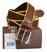Cintura Pelle La Martina Uomo Men Belt Pelle 100% Leather Dark Brown 023B08 Size