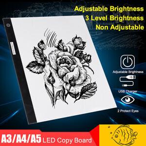 A3 A4 A5 LED Light Box Tracing Drawing Board Art Design Pad Copy Lightbox AU