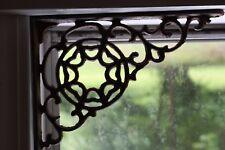 (8) CountnrCabin Window Corner Treatment,Cast Iron Spiderweb Shelf Brackets, B-7