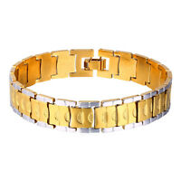 Platinum Plated 18K Two Tone Gold Plated Fashion Chunky Chain Bracelets for Men