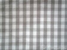 Karo Stoff ♥ Baumwolle kariert 168 cm !! breit grau 0,6 Vichy