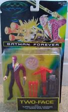 "1995 Batman Forever "" Two Face "" w/ Turbo-Charge Cannon & Coin ( NIP )"