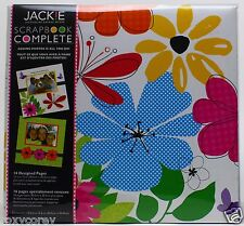 "Tapestry by CR Gibson 12"" x 12"" Jackie Scrapbook Complete 16 Designed Pages"