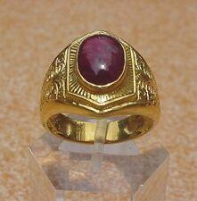 Men's 18K Solid Gold Ruby Ring
