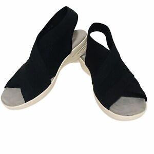 Easy Spirit Womens Blast Knit Slingback Wedge Sandals