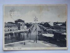 GRADO Gorizia porto canale piroscafo per Trieste vecchia cartolina