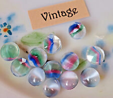 Glass Iris Stones,Vintage Moonstones, Rainbow 6mm Round NOS Germany NOS #580A