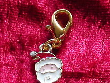 Charms Anhänger Weihnachtsmann Gold mit Strass