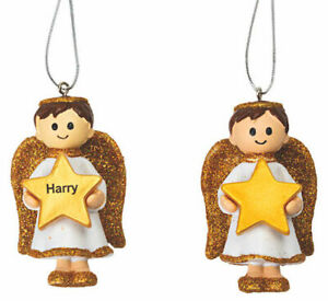Angel Boy Gold Decoration Personalised *ANYNAME*