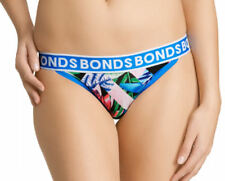 Bonds Ladies 8BL Blue Bloom Print String Skimpy Cheeky Brief Size 12 New