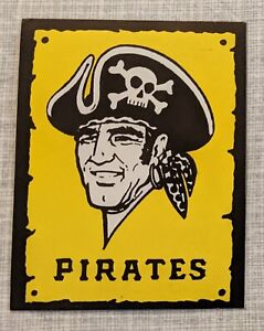 "PITTSBURGH PIRATES Vintage 1980s Vinyl Logo Sticker 4""x3"""