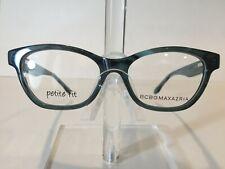 BCBG Maxazria Raylynn Women's Plastic Eyeglass Frame-Teal Horn 51-15 NEW! w/Case