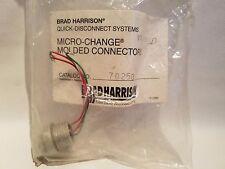 Brad Harrison 70250 Micro-Change Moldeados Conector Receptáculo 3P Macho