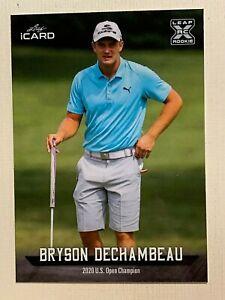 BRYSON DECHAMBEAU 2021 Leaf Rookie Golf Card RC ARNOLD PALMER & US Open Champion