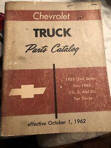 1955 thru 1963 CHEVROLET 1 1/2, 2, 2 1/2 ton SERIES TRUCK PARTS CATALOG / BOOK