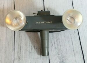 Keystone Double Twin Bulb Movie Light Lamp E23714 L20 Vintage Tested and Works